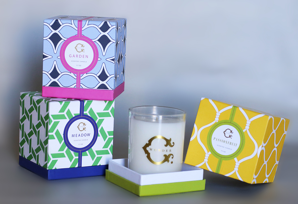 custom desing candle boxes