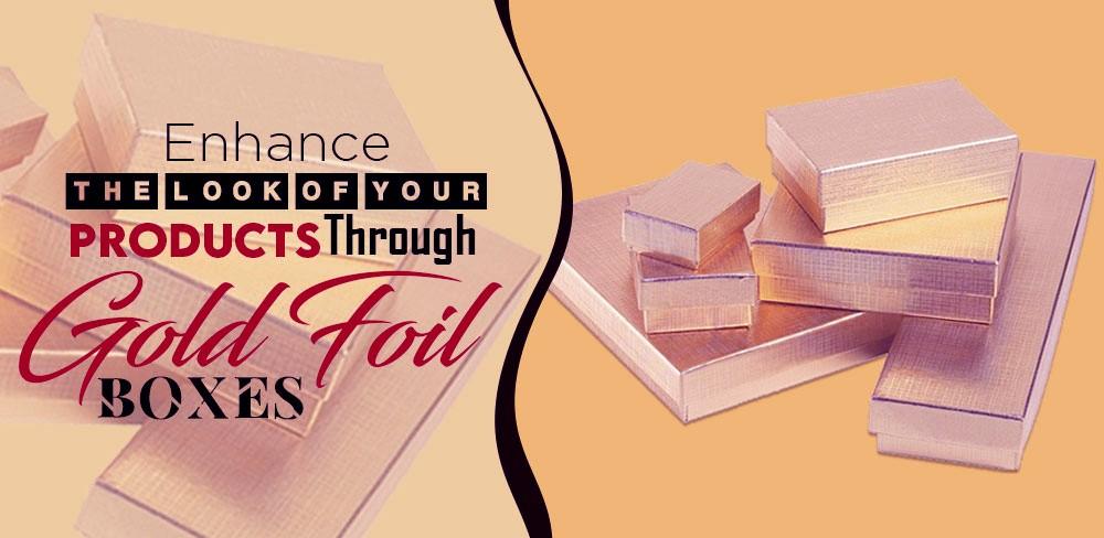 gold foil boxes wholesale